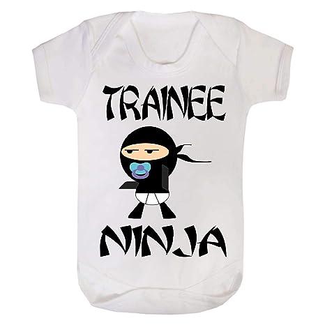 Pasante Ninja Funny Baby chaleco Grow blanco blanco Talla:0 ...