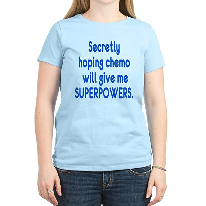 f027a6801 CafePress - Funny Cancer Chemo Superpowers T-Shirt - Womens Cotton T-Shirt,