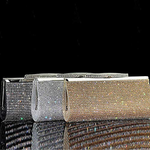 and Women Clutch Crystal Gold Bag Evening for Ladies Large Purses for Handbags wSwq1E0