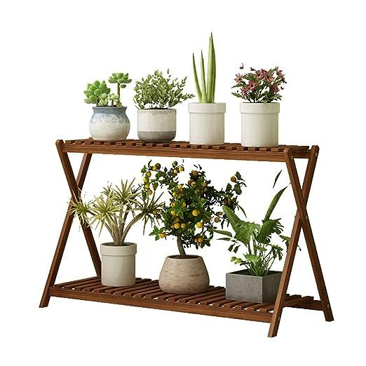 Estanterias De Jardin Soporte De Flores De 2 Capas Soporte De ...