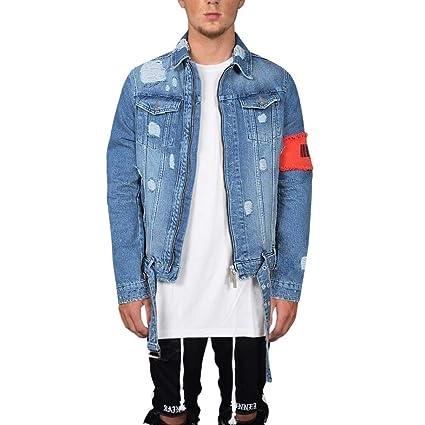 hot sale online d1629 bfd6b Giacca di Jeans da Uomo, Cappotto Invernale Uomo Maniche ...