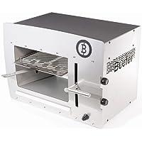 Elektrogrill 800 Grad XXL Edelstahl silber Electro Grill Balkon ✔ eckig ✔ Grillen mit Gas ✔ für den Tisch
