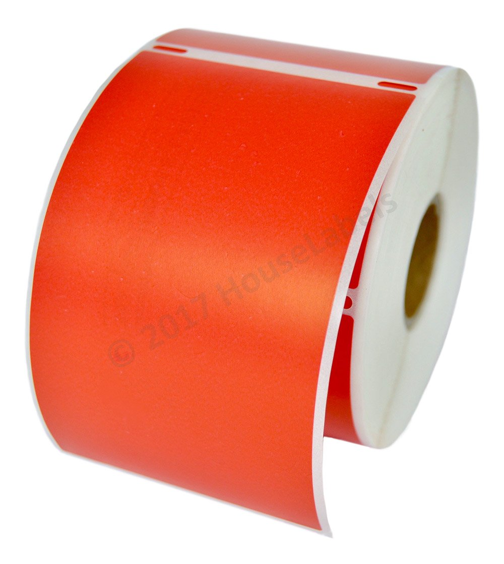 """1 Roll; 300 Labels per Roll of DYMO-Compatible 30256 RED Large Shipping Labels (2-5/16"""" x 4"""") -- BPA Free!"""