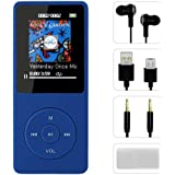 FenQan MP3 Player, HiFi Sound Portable Multi-Color MP3 Music Player, 8GB Memory Support 128G TF Card, 70 Hours Playback with Multifunction Video, Photo Viewer and FM Radio-Blue