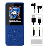 MP3 Player, FenQan HiFi Sound Portable Multi-Color MP3 Music Player, 8GB Memory Support 128G TF Card, 70 Hours Playback with Multifunction Video, Photo Viewer and FM Radio (Blue)