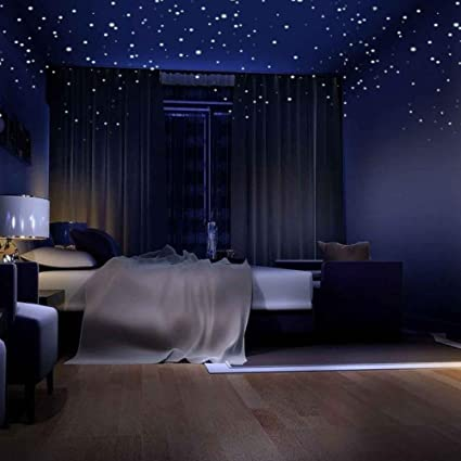 Etonnant APURSUE Glow In The Dark Stars Wall Stickers 318 Adhesive Dots And Moon For  Starry Sky