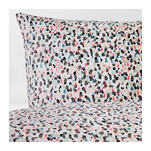 IKEA Twin size Duvet cover and pillowcase, dotted, multicolor 828.1123123.1034 (Ikea Twin Bedding)