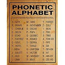 Phonetic Alphabet Poster Or Print Home Decor Wall Art