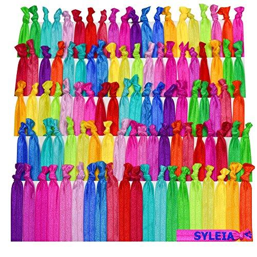 Syleia 100 Hair Ties Ponytail