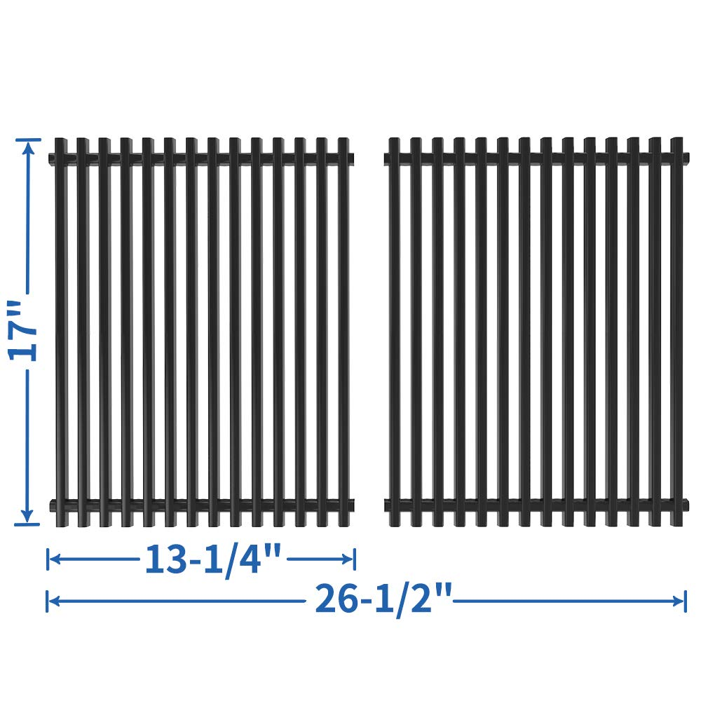 SHINESTAR 13 1/4 x 17 inch Grill Grates Replacement for Nexgrill 720-0830H, 720-0783E, 720-0783C, Kenmore 122.16641900, 122.16119, Porcelain-enameled Steel Cooking Grates for Members Mark (SS-KW011) by SHINESTAR