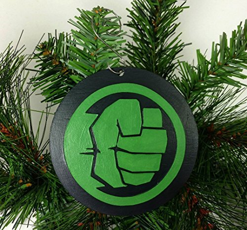 Hulk Ornament | Avengers | Marvel | Comic Book Gifts | Bruce Banner | Shield | Stan Lee | Rear View Mirror | Secret Santa | Gift Exchange -