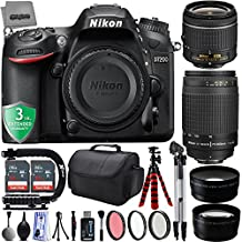 Nikon D7200 24.2MP 1080P DSLR Camera w/Wi-Fi & GPS Ready + 4 Lens - 18 to 300mm - 64GB - 30PC Kit - Nikon 18-55VR - Nikon 70-300G Lens - Opteka 2.2X Telephoto - Opteka 0.43x Wide/Macro + 3YR Warranty