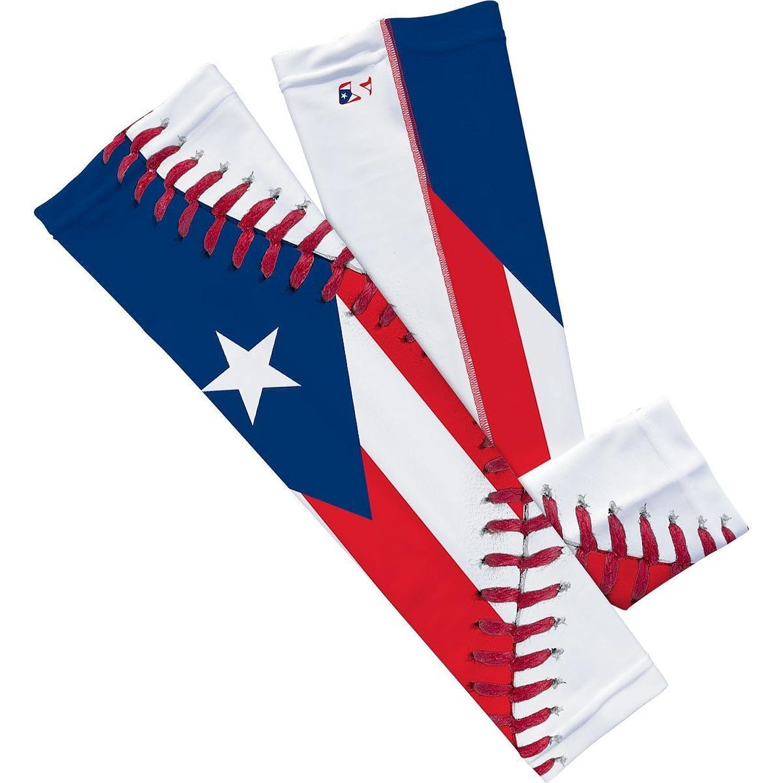 amazon com puerto rico flag baseball lace arm sleeve l xl 2 pack