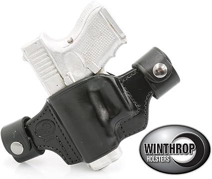 Fits Glock 23 IWB Dual Snap Holster LEFT Hand Black
