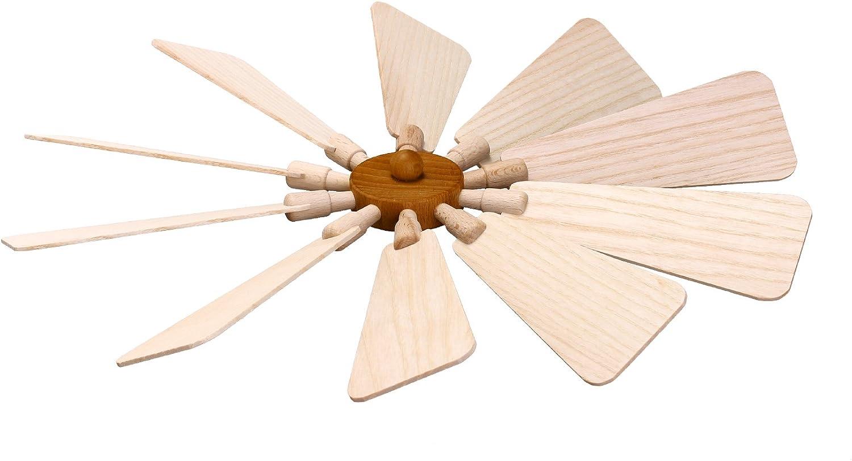 Ersatzteil Flügelrad Ø ca 31 cm NEU Ersatz Teile Flügel Nabe Holzpyramide