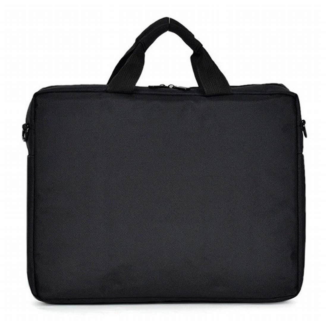 Sinngukaba Laptop Shoulder Messenger Bag for Men Women Case Sleeve for 14 Inch 15 Inch Laptop Case Laptop Briefcase 15.6 Inch (Color : Black)
