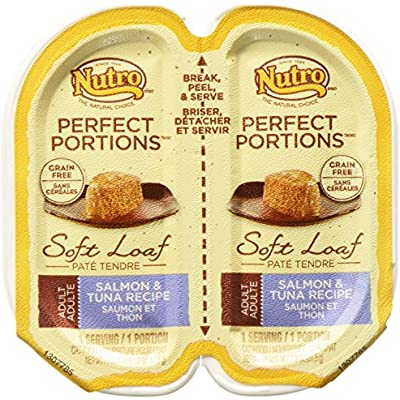 Nutro 50411520 24Ea/2.65Oz Grain Free Perfect Portions Soft Loaf Salmon & Tuna Recipe Cat Food, One Size