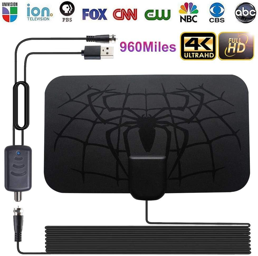 960 Miles Antena Digital HDTV Indoor TV Antenna with Amplifier Signal Booster TV Radius Surf Fox Antena HD TV Antennas Aerial