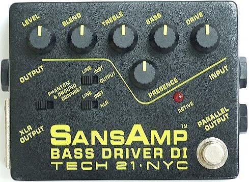TECH21 SANSAMP BASS DRIVER DI-LB