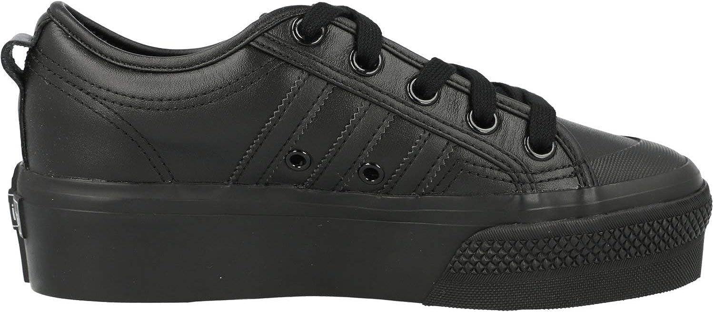 adidas Originals Nizza Platform Noir Cuir Adulte Formateurs Chaussures Noir Black