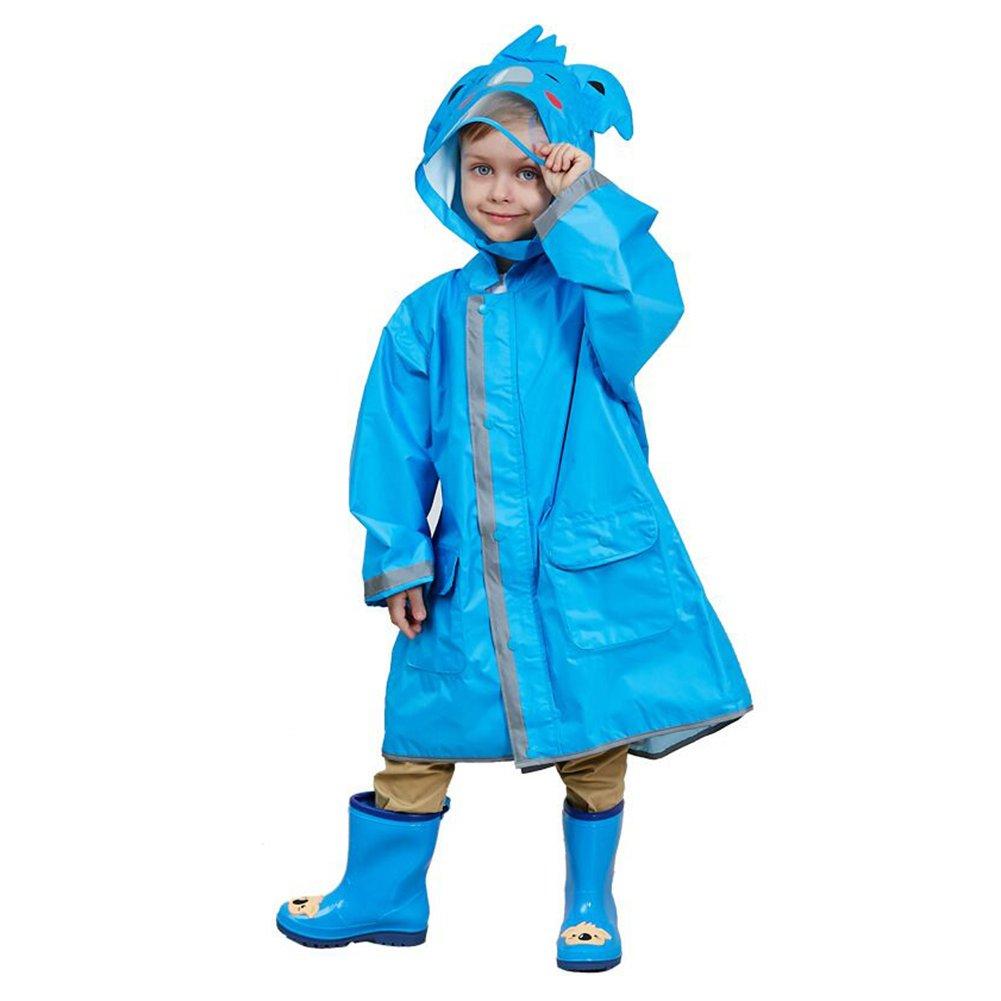 Gagacity Kinder Regenmäntel 3D Niedliches Muster der Karikatur Impermeable Rain Poncho für Baby Jungen Mädchen 2-8 Jahre Alt