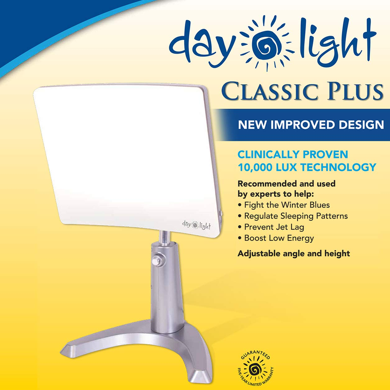 Carex Day-Light Classic Plus Bright Light Therapy Lamp - 10,000 LUX - Sun Lamp Mood Light by Carex Health Brands (Image #5)