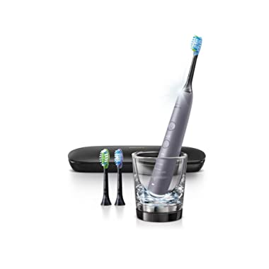 Philips Sonicare Diamond Clean Smart Electric 9300 Series Rechargeable Toothbrush for Complete Oral Care, Grey, HX9903/41
