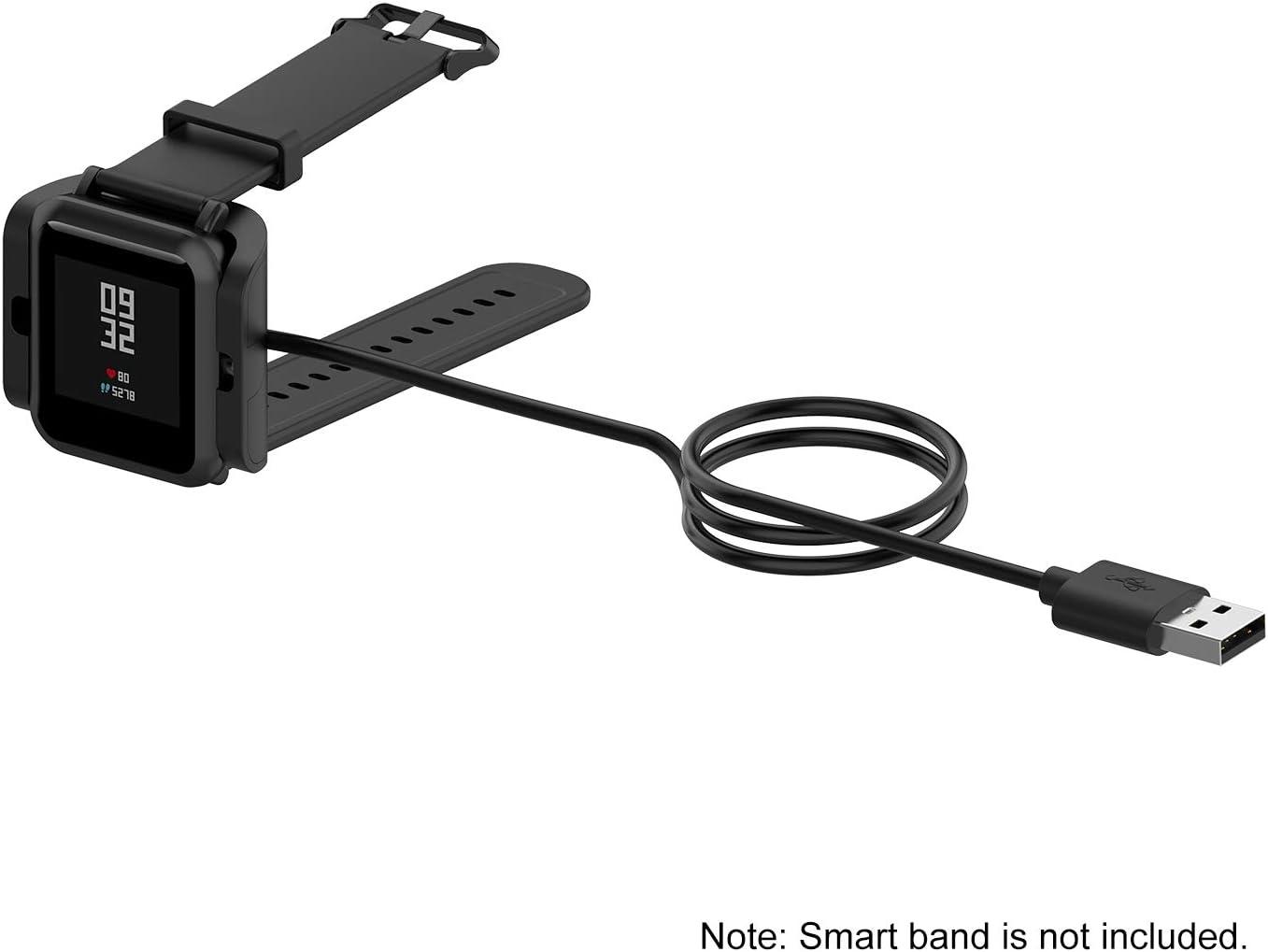 A1805 Ajcoflt Cable de Base de Carga USB Smart Band Compatible con el Cargador con Clip Amazfit bip S 1s 1 Metro A1916