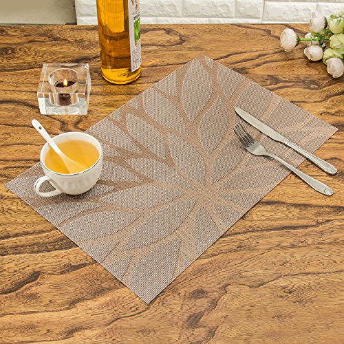 Placemats unique durable kitchen table mats woven vinyl for Durable kitchen table
