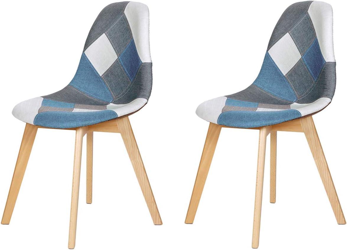 EGOONM Sedie da Pranzo Set di 2 sedie da Pranzo in Lino