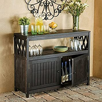 Amazoncom Outdoor Rustic Espresso Brown Finish Eucalyptus Wood