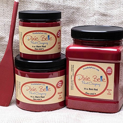 Dixie Belle Paint Company Chalk Finish Furniture Paint (Barn Red) (16oz)