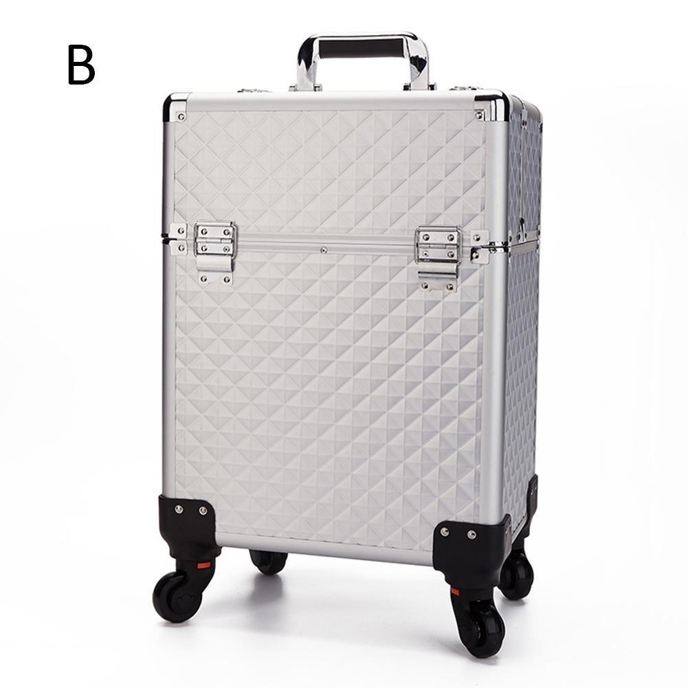 Gracefulvara Extra Large Capacity Make Up Case Beauty Cosmetic Box Trolley