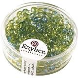RAYHER hobby 14382390-creative-beads rocailles perles de rocaille ø 4 mm, two tone, boite de 17 g, lagune
