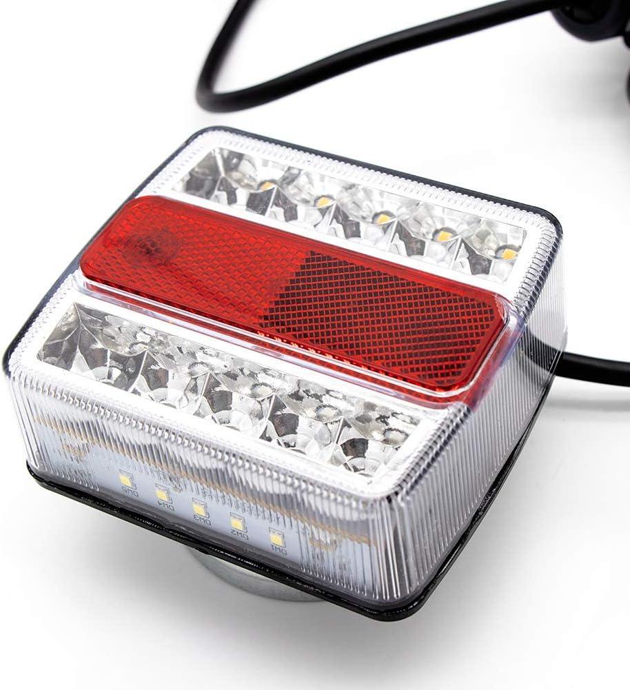 Cocoarm Auto Hinten Bremslicht Lampe Zusatzbremsleuchte 12V Bremsleuchte LED R/¨/¹cklicht-Komplettsets