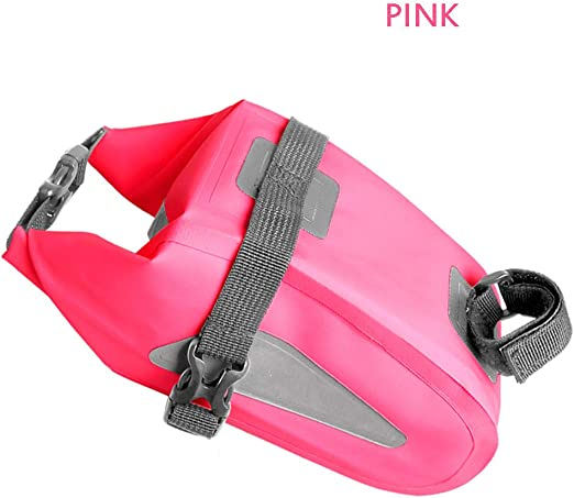 Reflective Cycle Bicycle Saddle Bag RED PINK or GREEN Medium Size Under Seat