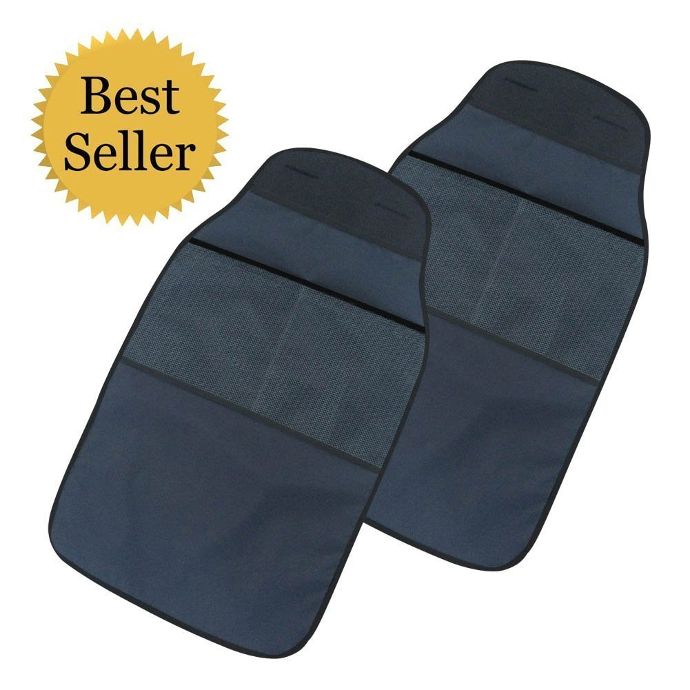 The Kick Mat Protector | 6 Pcs Easy to Clean Car Kick Mat to Protect Both Driver and Passenger Seats | Effortless Installation | 30 x 17 Inches | Black | 131.03