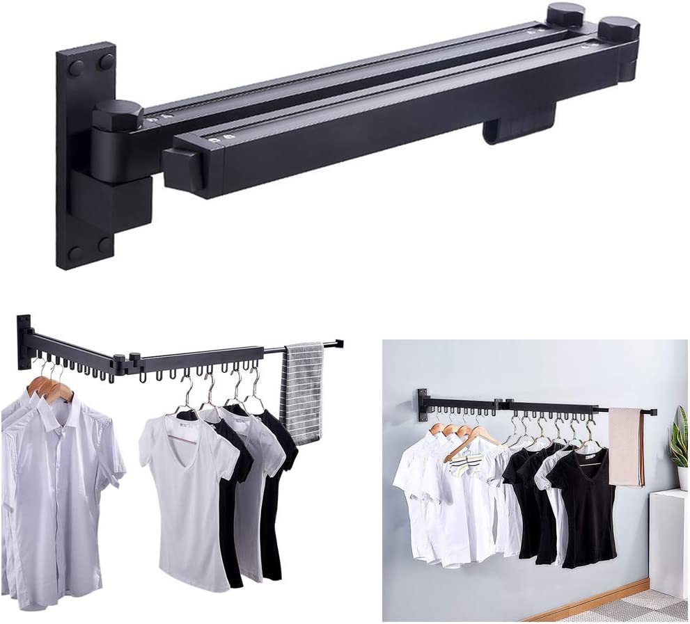 Laundry Dryer Drying Rack Retractable For Clothes Hanger Portable Indoor Outdoor
