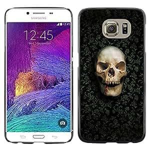 Be Good Phone Accessory // Dura Cáscara cubierta Protectora Caso Carcasa Funda de Protección para Samsung Galaxy S6 SM-G920 // Design Skull Pattern