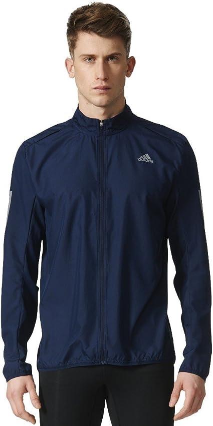 adidas RS Wind JKT W Windstopper for Man, Blue (Maruni), L