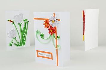 Quilling Gru Karte Zum Geburtstag Amazon De Kuche Haushalt