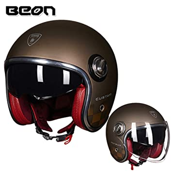 Amazon.com: Loyasun Casco de moto Casco Moto Vintage Moto 3 ...