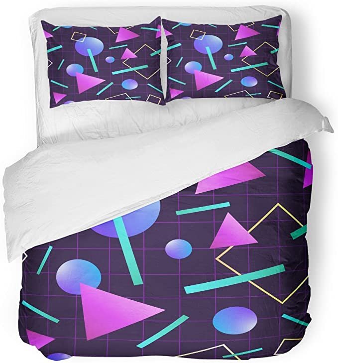 Retro Neon Bedding Set