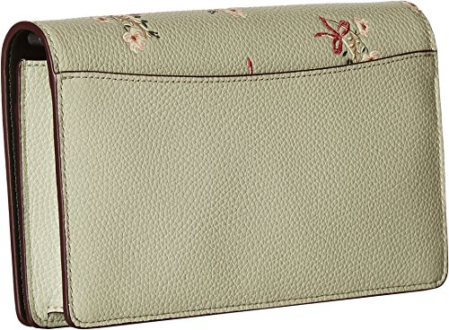 Floral Bow Crossbody Fold Pale COACH Womens Green Over Clutch Bp Hx6n1qPw
