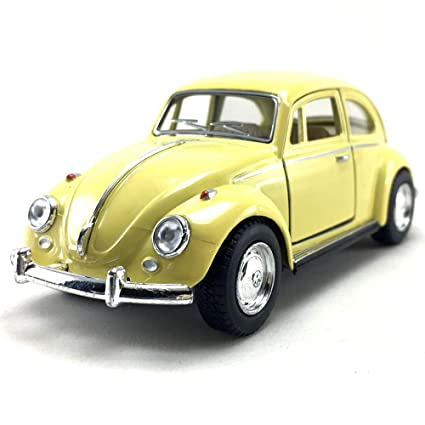 1967 Vw Bug >> Kinsmart 1967 Volkswagen Vw Classic Beetle Bug Yellow 1 32 Die Cast Model Toy Car Collectible Collection