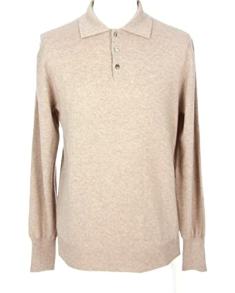Shephe Men's Polo Cashmere Sweater with Three Button at Amazon ...