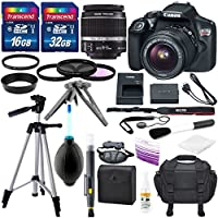 Canon EOS Rebel T6 DSLR Camera with EF-S 18-55mm f/3.5-5.6 IS II Lens, Along with 32GB SDHC, and Deluxe Accessory Bundle Key Pieces Review Image