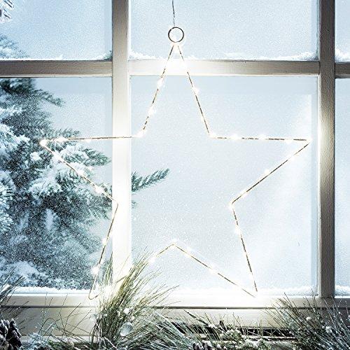 LED Stern Osby Fensterdeko Zeitschaltuhr Batteriebetrieb 35cm Lights4fun