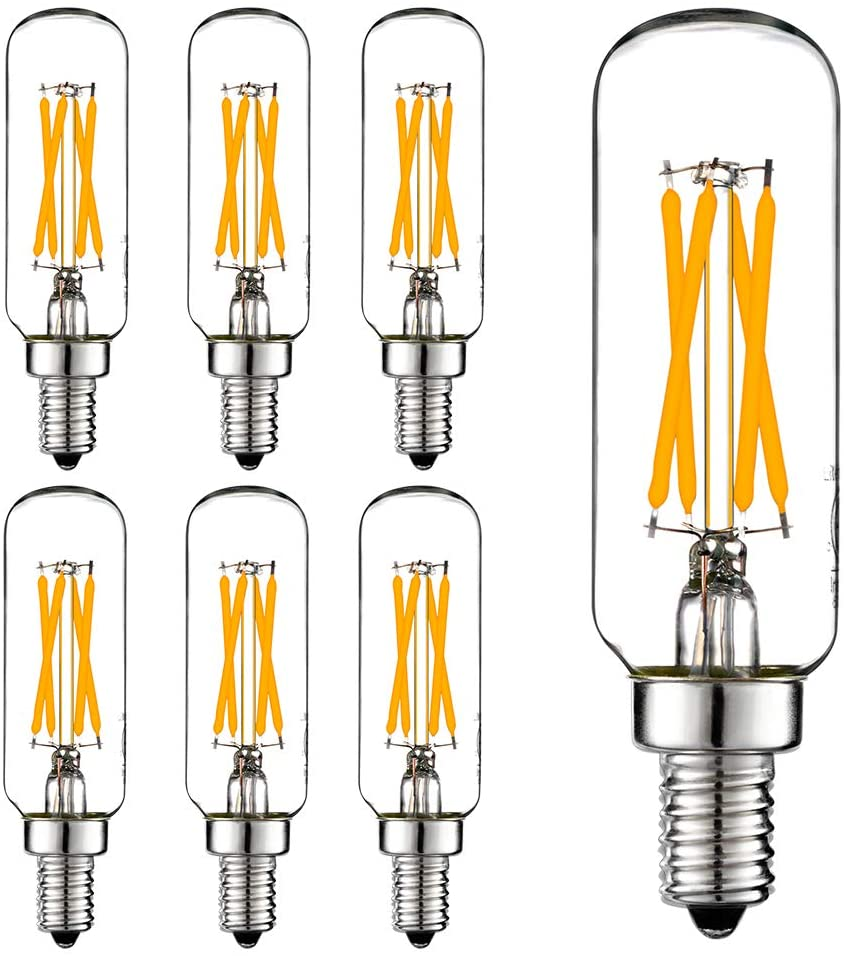 LiteHistory E12 LED Bulb Dimmable 6W Equal 60 watt Light Bulb Warm White 2700K T6 T25 E12 Candelabra Bulb 60 watt for Chandeliers,Ceiling Fan,Pendant,Wall scones AC120V 600LM e12 Light Bulb 6Pack: Home Improvement