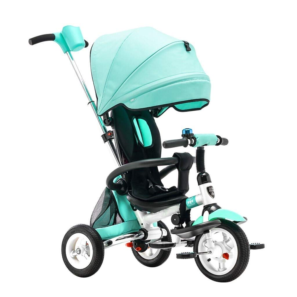 RJJX Home Baby Stroller Baby Bicycle Foldable Stroller Compact Single Stroller Luxury Stroller with Cup Holder 4 Color Optional (Color : Green) by RJJX Home